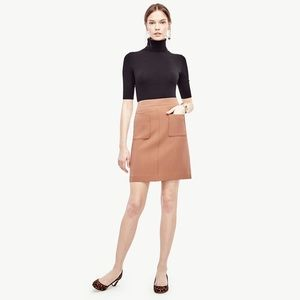 Ann Taylor Double Pocket Mod Camel Career Skirt